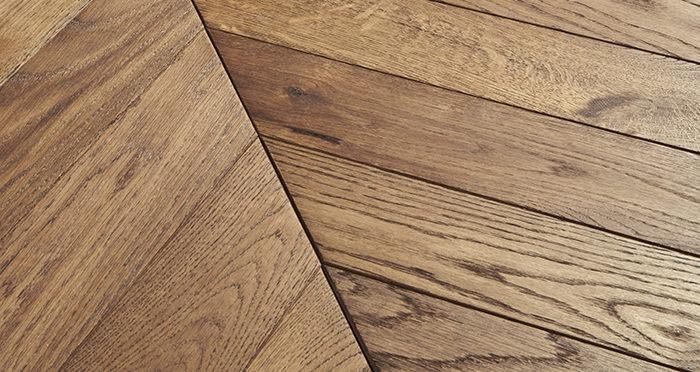 Park Avenue Chevron Georgian Oak Brushed & Oiled Solid Wood Flooring - Descriptive 1