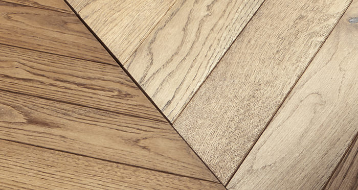 Park Avenue Chevron Georgian Oak Brushed & Oiled Solid Wood Flooring - Descriptive 4
