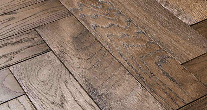 Park Avenue Herringbone Espresso Oak Solid Wood Flooring - Descriptive 1
