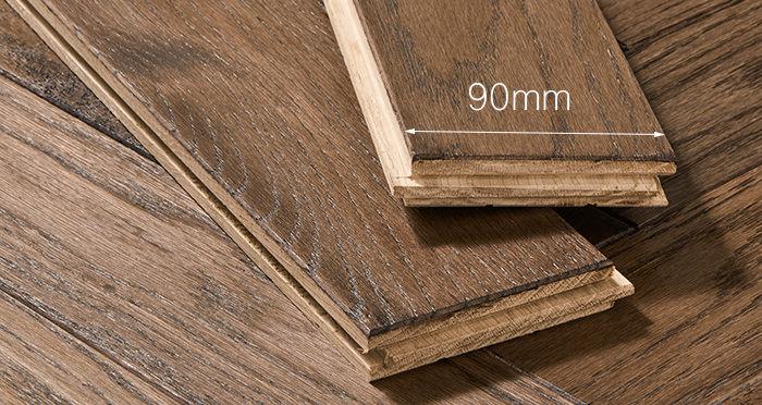 Park Avenue Herringbone Espresso Oak Solid Wood Flooring - Descriptive 3