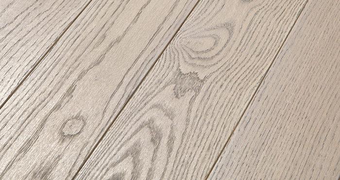 Elegant Silk Grey Oak Brushed & Oiled Solid Wood Flooring - Descriptive 1