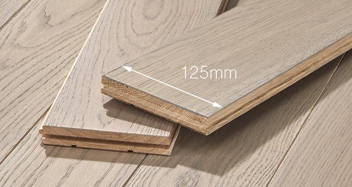Elegant Silk Grey Oak Brushed & Oiled Solid Wood Flooring - Descriptive 3