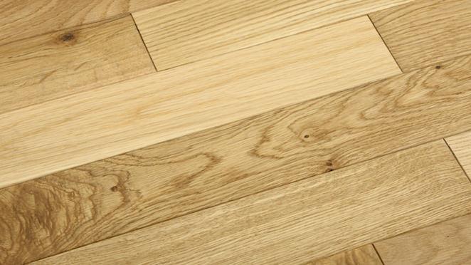 Classic Oak Natural Brushed & Oiled Solid Wood Flooring - Descriptive 1