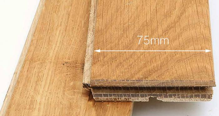 Classic Oak Natural Brushed & Oiled Solid Wood Flooring - Descriptive 3
