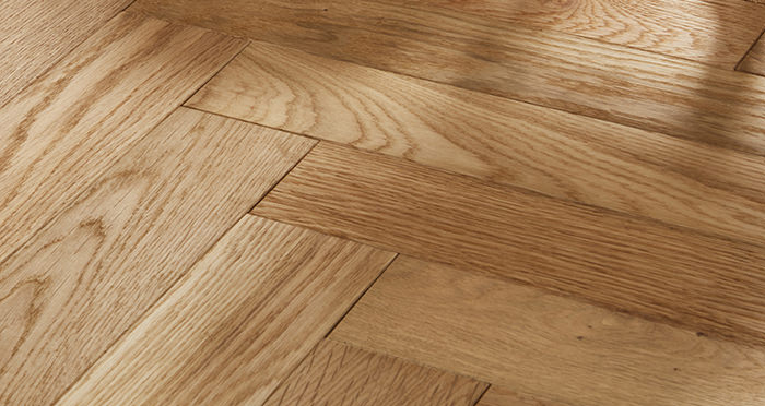 Oxford Herringbone Natural Oak Engineered Wood Flooring - Descriptive 1