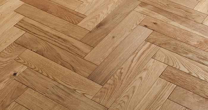 Oxford Herringbone Natural Oak Engineered Wood Flooring - Descriptive 2
