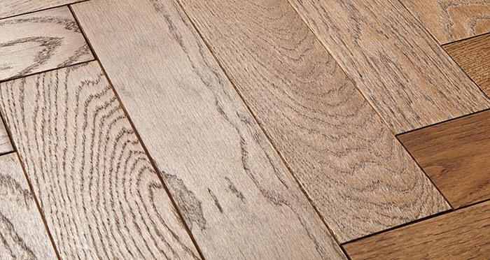 Park Avenue Herringbone Georgian Oak Solid Wood Flooring - Descriptive 1