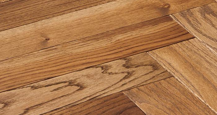 Park Avenue Herringbone Georgian Oak Solid Wood Flooring - Descriptive 2