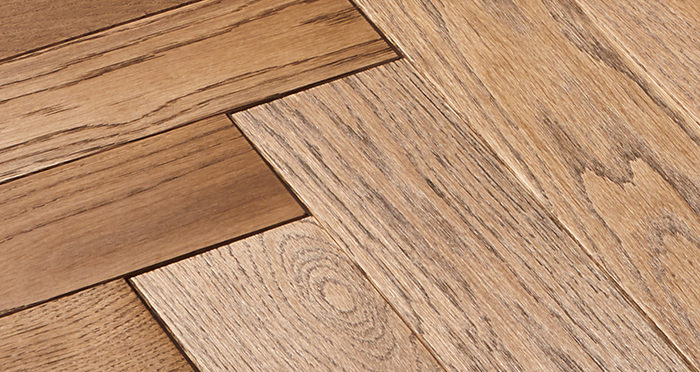 Park Avenue Herringbone Georgian Oak Solid Wood Flooring - Descriptive 4