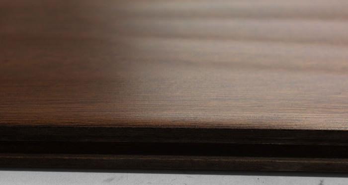 Antique Handscraped Mahogany Lacquered Solid Wood Flooring - Descriptive 1