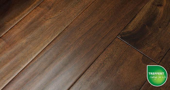 Antique Handscraped Mahogany Lacquered Solid Wood Flooring - Descriptive 2