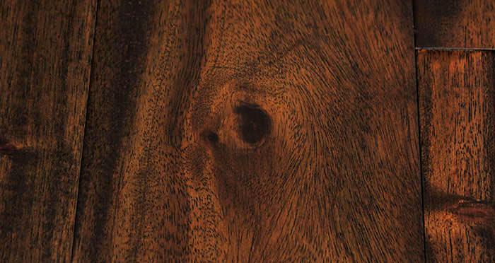 Antique Handscraped Mahogany Lacquered Solid Wood Flooring - Descriptive 3