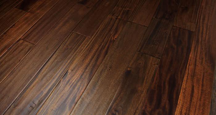 Antique Handscraped Mahogany Lacquered Solid Wood Flooring - Descriptive 5