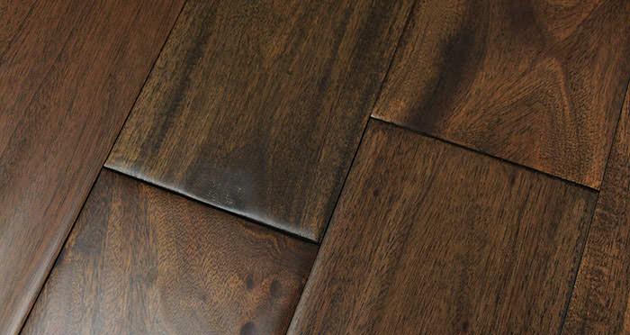 Antique Handscraped Mahogany Lacquered Solid Wood Flooring - Descriptive 6