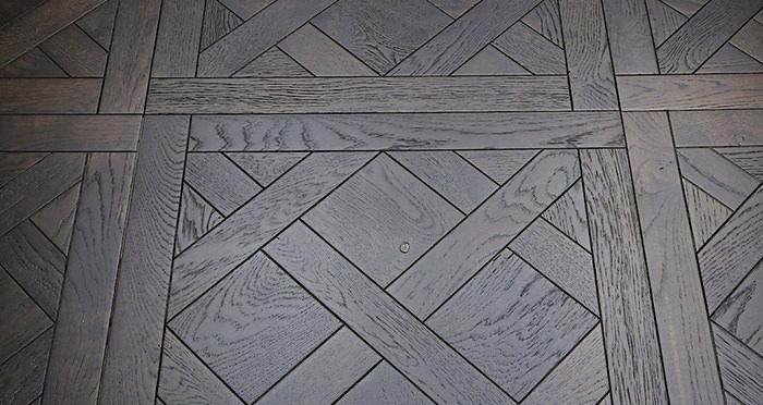 Colmar Smoked Oak Brushed & Oiled Versailles Tile Engineered Wood Flooring - Descriptive 1