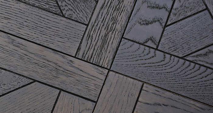 Colmar Smoked Oak Brushed & Oiled Versailles Tile Engineered Wood Flooring - Descriptive 2