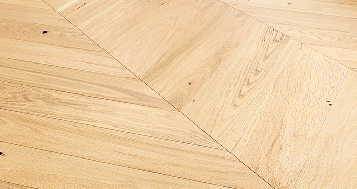 Chelsea Chevron - Natural Oak Brushed & Lacquered Engineered Wood Flooring - Descriptive 4