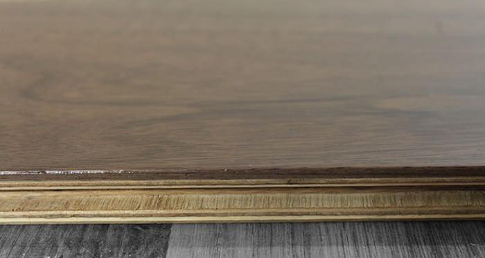 American Black Walnut Lacquered Engineered Wood Flooring - Descriptive 1