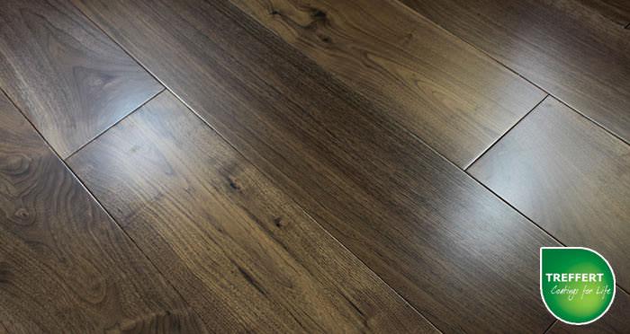 American Black Walnut Lacquered Engineered Wood Flooring - Descriptive 3