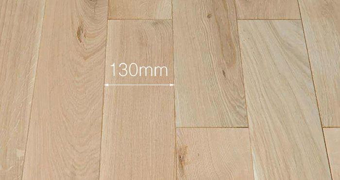 Unfinished Oak 130mm Wide Solid Wood Flooring - Descriptive 3