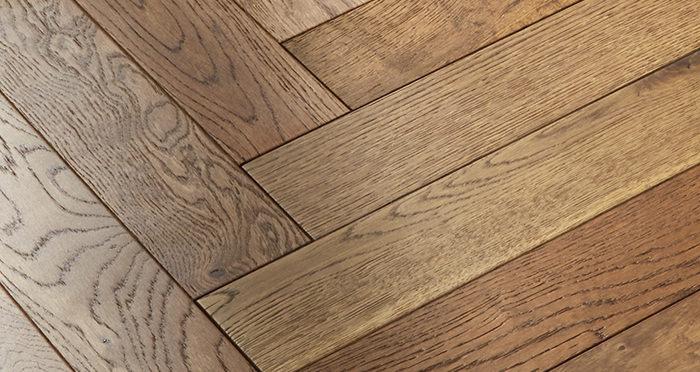 Oxford Herringbone Golden Smoked Oak Engineered Wood Flooring - Descriptive 4