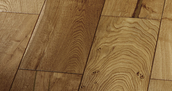 Farmhouse Golden Smoked Oak Brushed & Lacquered Engineered Wood Flooring - Descriptive 5