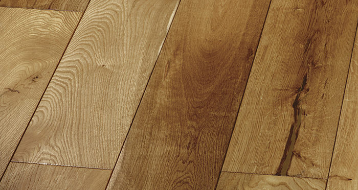 Farmhouse Golden Smoked Oak Brushed & Lacquered Engineered Wood Flooring - Descriptive 6