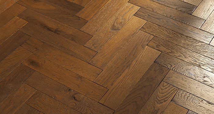 Oxford Herringbone Honeycomb Oak Brushed & Oiled Engineered Wood Flooring - Descriptive 2