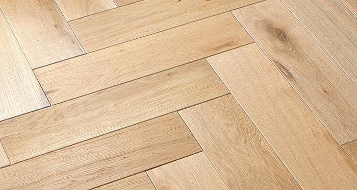 Luxury Whitewashed Parquet Oak Solid Wood Flooring - Descriptive 2