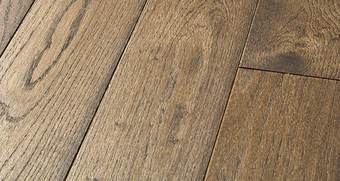 Elegant Espresso Oak Brushed & Oiled Solid Wood Flooring - Descriptive 1