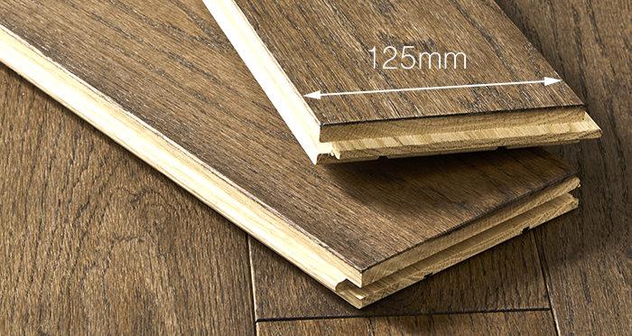 Elegant Espresso Oak Brushed & Oiled Solid Wood Flooring - Descriptive 3