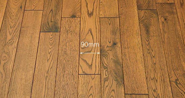 Muscovado Oak Brushed & Lacquered Solid Wood Flooring - Descriptive 3
