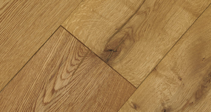 Barn Natural Oak Brushed & Oiled Engineered Wood Flooring - Descriptive 4