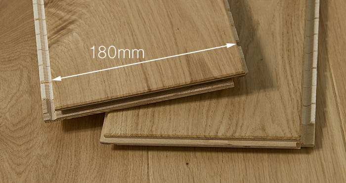 Trade Select Natural Lacquered 14mm x 180mm Engineered Wood Flooring - Descriptive 2