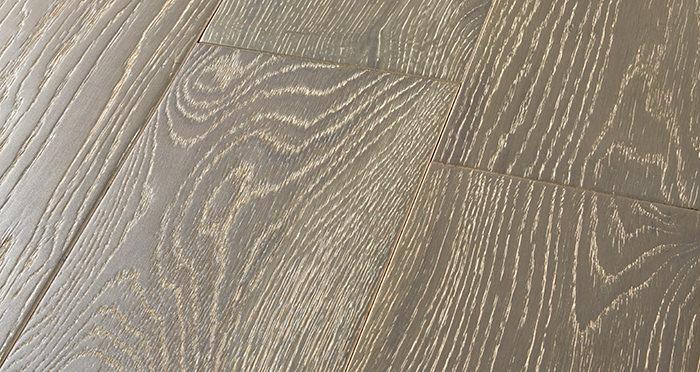 Manhattan Urban Grey Oak Brushed & Lacquered Engineered Wood Flooring - Descriptive 1