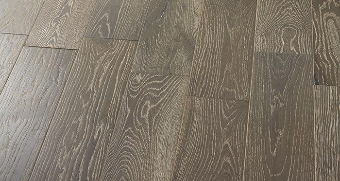 Manhattan Urban Grey Oak Brushed & Lacquered Engineered Wood Flooring - Descriptive 2