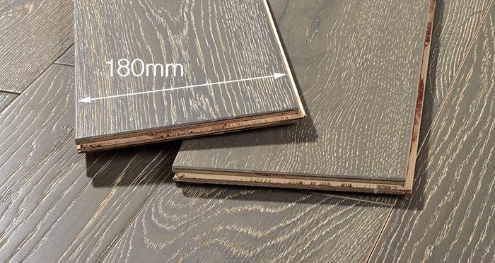 Manhattan Urban Grey Oak Brushed & Lacquered Engineered Wood Flooring - Descriptive 4