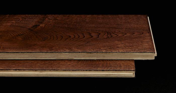 Handscraped Ginger Oak Lacquered Engineered Wood Flooring - Descriptive 1