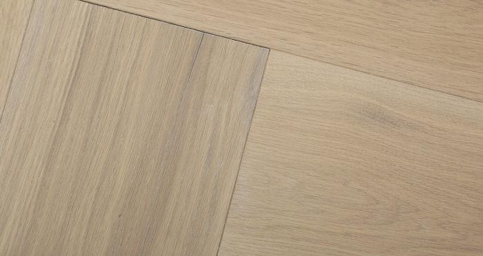 Prestige Herringbone Frosted Oak Oiled Engineered Wood Flooring - Descriptive 2