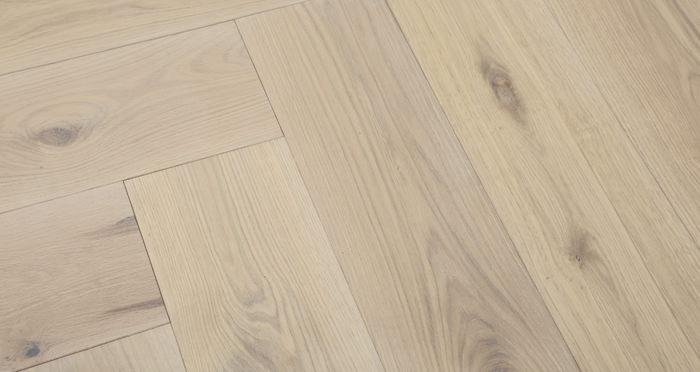 Prestige Herringbone Frosted Oak Oiled Engineered Wood Flooring - Descriptive 4