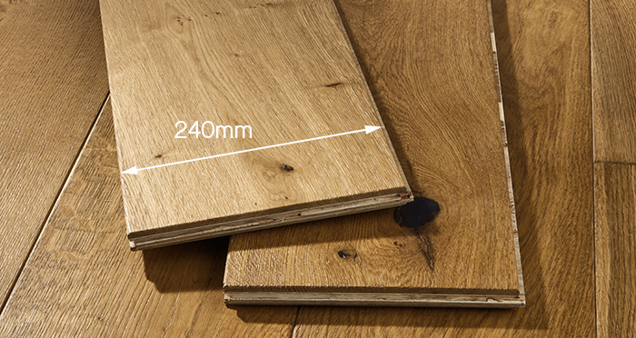 Grand Imperial Golden Smoked Oak Brushed & Lacquered Engineered Wood Flooring - Descriptive 4