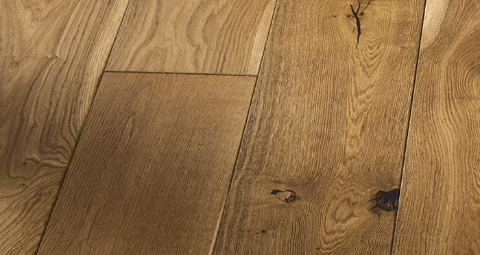 Grand Imperial Golden Smoked Oak Brushed & Lacquered Engineered Wood Flooring - Descriptive 6