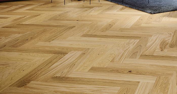 Bayswater Herringbone - Unfinished Oak Engineered Wood Flooring - Descriptive 1