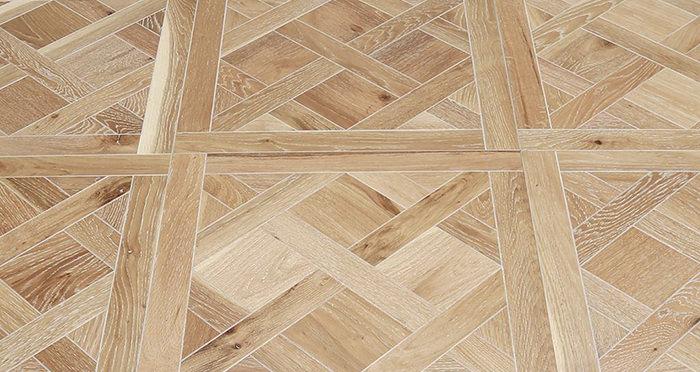 Strasburg White Smoked Oak Brushed & Oiled Versailles Tile Engineered Wood Flooring - Descriptive 1