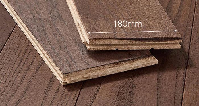 Luxury Chocolate Oak Solid Wood Flooring - Descriptive 3