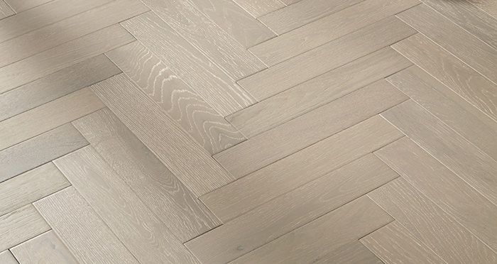 Oxford Herringbone Pearl Grey Oak Engineered Wood Flooring - Descriptive 4