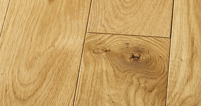 Elegant Natural Oak Brushed & Oiled Solid Wood Flooring - Descriptive 2