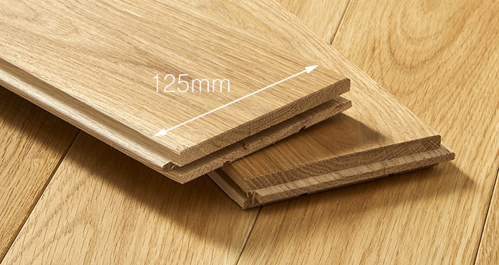 Elegant Natural Oak Brushed & Oiled Solid Wood Flooring - Descriptive 3