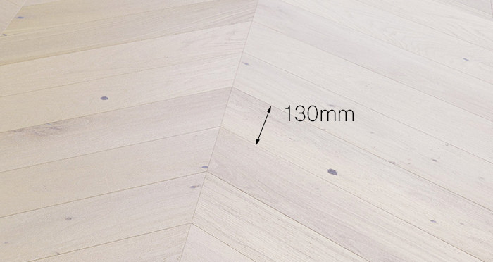 Chelsea Chevron - Cappuccino Oak Brushed & Lacquered Engineered Wood Flooring - Descriptive 3