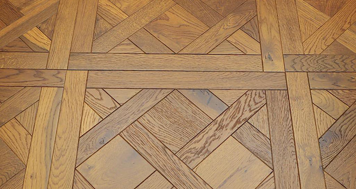 Montpellier Golden Smoked Oak Brushed & Oiled Versailles Tile Engineered Wood Flooring - Descriptive 1